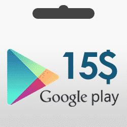 گیفت کارت 15 دلاری گوگل