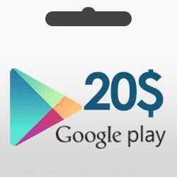 گیفت کارت 20 دلاری گوگل