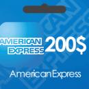 خرید گیفت کارت 200 دلاری American Express و دریافت کد بصورت آنی و آنلاین