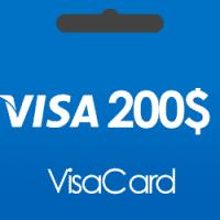 خرید گیفت کارت 200 دلاری ویزا کارت و دریافت کد بصورت آنی و آنلاین