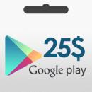 گیفت کارت 25 دلاری گوگل