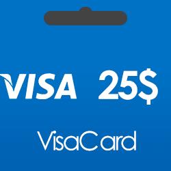 خرید گیفت کارت 25 دلاری ویزا کارت و دریافت کد بصورت آنی و آنلاین