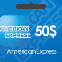 خرید گیفت کارت 50 دلاری American Express و دریافت کد بصورت آنی و آنلاین