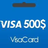 خرید گیفت کارت 500 دلاری ویزا کارت و دریافت کد بصورت آنی و آنلاین
