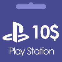 گیفت کارت 10 دلاری پلی استیشن Play Station