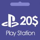 گیفت کارت 20 دلاری پلی استیشن Play Station