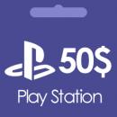 گیفت کارت 50 دلاری پلی استیشن Play Station