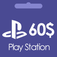 گیفت کارت 60 دلاری پلی استیشن Play Station