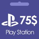 گیفت کارت 75 دلاری پلی استیشن Play Station
