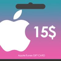 گیفت کارت اپل آیتونز 15 دلاری