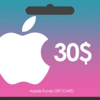 گیفت کارت اپل آیتونز 30 دلاری