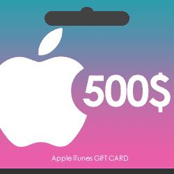 گیفت کارت اپل آیتونز 500 دلاری
