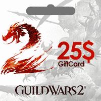 خرید گیفت کارت 25 دلاری بازی گیلد وارز Guild Wars