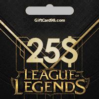 خرید گیفت کارت   League Of Legends گیفت کارت 25 دلاری