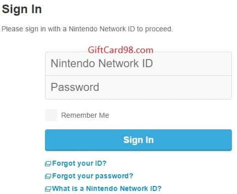 استفاده از گیفت کارت نینتندو Nintendo ID