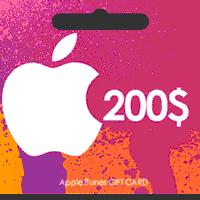 گیفت کارت اپل 200 دلاری