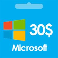 گیفت کارت مایکروسافت | خرید گیفت کارت 30 دلاری