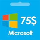 اشتراک مایکروسافت 75 دلاری | گیفت کارت 75 دلاری مایکروسافت