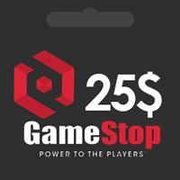 گیفت کارت 25 دلاری گیم استاپ | گیم اسپات | GameStop گیفت کارت