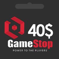 گیفت کارت 40 دلاری گیم استاپ   گیم اسپات   GameStop گیفت کارت