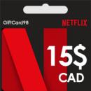گیفت کارت Netflix کانادا 15 دلار