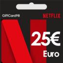 اکانت نتفلیکس یورو 25 یورویی