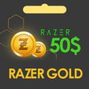خرید گیفت کارت 50 دلاری Razer Gold گلوبال ریزر