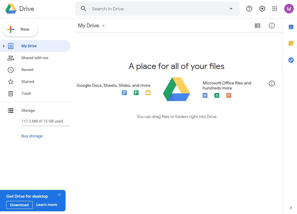 نسخه وب گوگل درایو