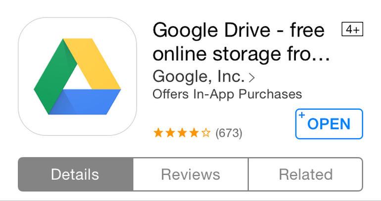 دانلود نرم افزار گوگل درایو اپل