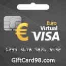 گیفت کارت یورویی ویزا مجازی اروپا | گیفت کارت یورو